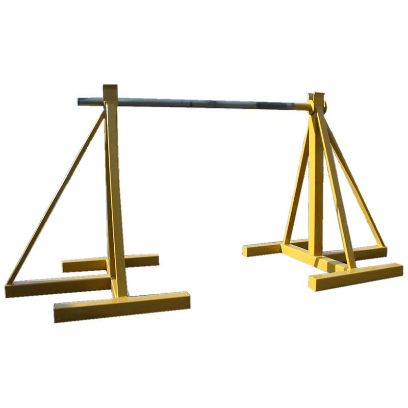 Yellow Cable Handler Drum Jacks