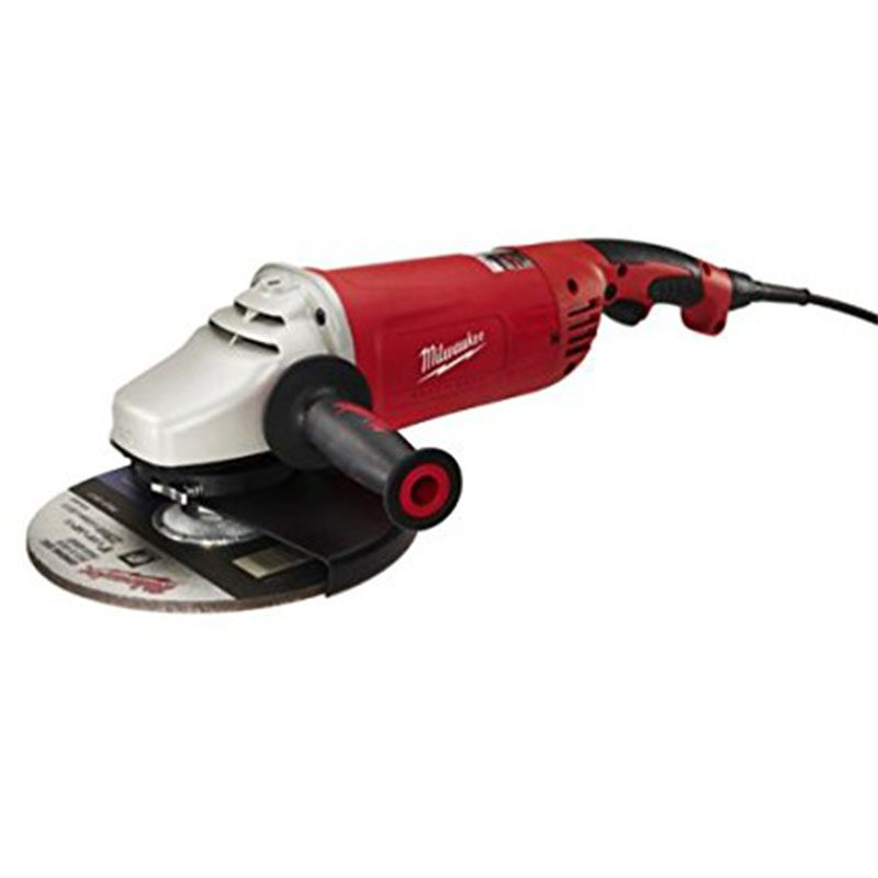 Red, black and grey Angle Grinder